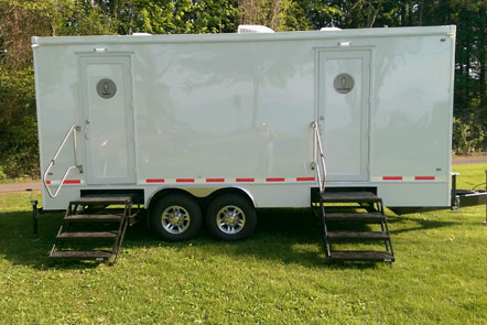 bathroom rental trailers
