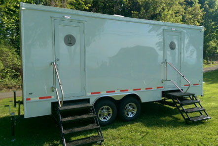 Rent Portable Restroom Trailers In Buffalo And Rochester NY - Bathroom trailer rentals